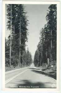 USA, Western Washington Highway, 1948 used real photo Postcard RPPC