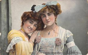 Misses Grace & Sybil Arundale~Actresses~TUCK Celebrities of the Stage~1909
