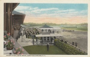 SARATOGA SPRINGS , NY , 00-10s ; Race Track , Judges Stand