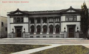 F32/ Spokane Washington Postcard c1910 Masonic Temple Building