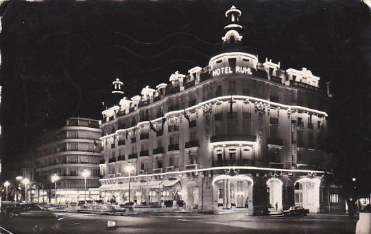 France Nice Promenade des Anglais la Nuit Hotel Ruhl 1957 Photo