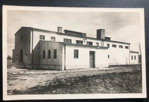 Mint Poland Real Picture Postcard RPPC Concentration Camp Terezin Crematorium