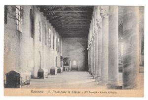 Italy Ravenna Basilica S Apollinare in Classe Church Interior Left Nave Postcard