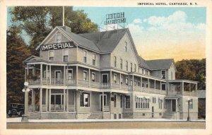 Carthage New York Imperial Hotel Vintage Postcard JJ658914