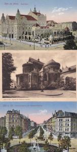Koln Kirche St Maria Opernhaus 3x German Old Postcard s