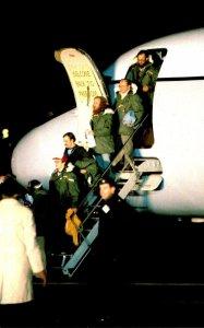 Iran Hostages Deplane At Rhein-Main Air Force Base Frankfurt Germany