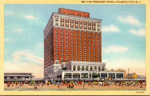 New Jersey Atlantic City The President Hotel Curteich
