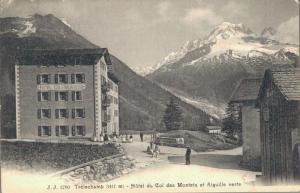 Switzerland Trélechamp Hôtel du Col des Montets et Aiguille verte 02.84