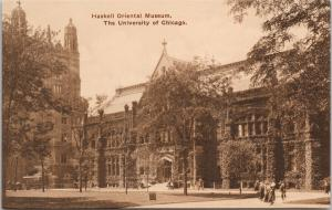 Haskell Oriental Museum University of Chicago Illinois IL Book Store Postcard F5