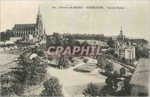Postcard Old Surroundings of Rouen Bonsecours Plateau View