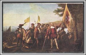 Washington DC Landing of Columbus Painting in Capitol Rotunda