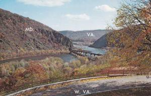 Three States View at Harpers Ferry WV, West Virginia