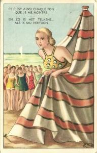 Comic This happens always when I show Myself, Girl in Bathing Suit (1956)