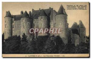Postcard Old Luynes I and L Chateau West