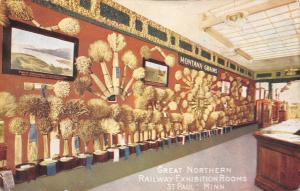 St Paul MN Great Northern Railway Exhibition Rooms~Montana Grains c1910 Alhambra