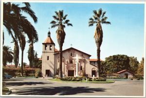 Mission Santa Clara De Asis, California postcard