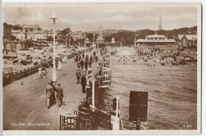 Dorset; The Pier, Bournemouth RP PPC By 1929 PMK To Mr Hubert, Brussels