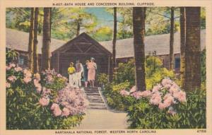North Carolina Cliffside Bath House and Concession Building