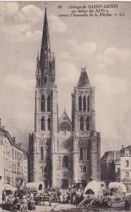 Abbaye De Saint-Denis Au Debut Du XIV Avant l'lncendie De La Fleche, France, ...
