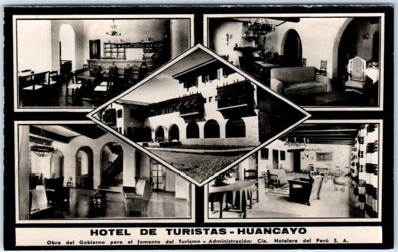 Huancayo, PERU RPPC Real Photo Postcard HOTEL DE TURISTAS c1950s Unused