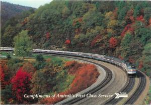 Famous Horseshoe Curve from Amtrak Broadway Limited Train