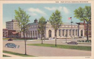 KENOSHA, Wisconsin, 1930-1940's; Post Office, Classic Cars