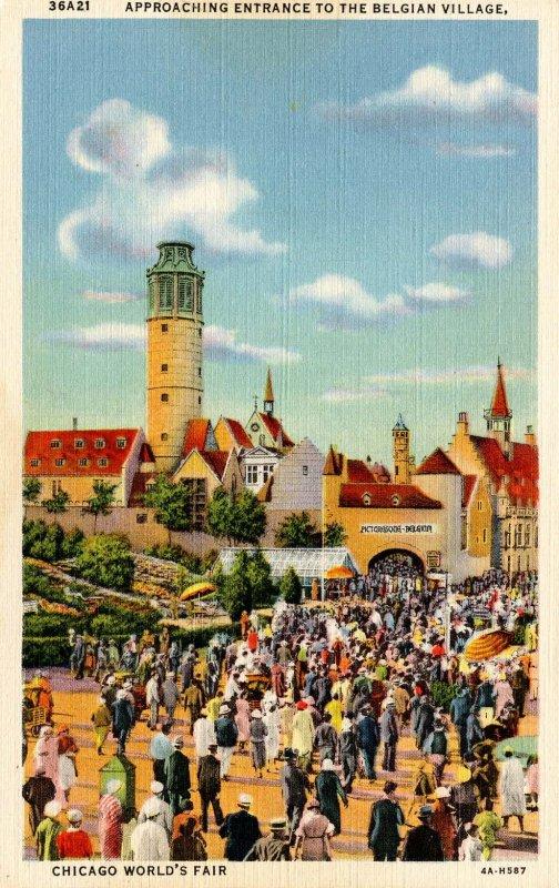 IL - Chicago. 1933 World's Fair, Century of Progress. The Belgian Village
