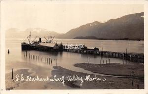 B92/ Valdez Alaska AK Real Photo RPPC Postcard 1936 S.S. Yukon Ship
