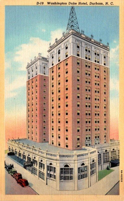 North Carolina Durham Washington Duke Hotel Curteich