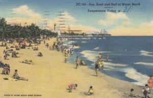 MIAMI BEACH, Florida, 30-40s; Sun, Sand & Surf, Temperature of the day 80 degree