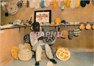 Postcard Modern Nigeria Calabash From Oyo Carver
