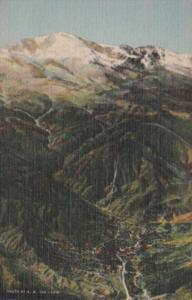 Colorado Manitou Springs At Foot Of Pikes Peak Curteich