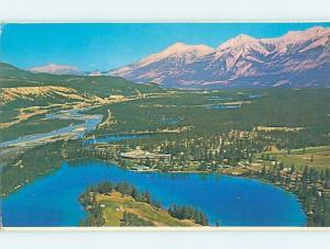 Pre-1980 LODGE SCENE Jasper National Park Alberta AB c5438