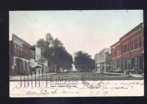 WAUTOMA WISCONSIN DOWNTOWN MAIN STREET SCENE ANTIQUE VINTAGE POSTCARD