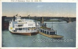 Mississippi River View Steamboat, Ship Unused