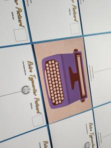 Set of 9 NEW Retro Vintage Typewriter Icon Postcards