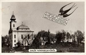 Hungary Emlek Mariabesnyo 1958 photo postcard