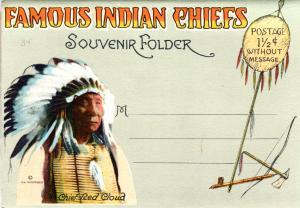 FAMOUS INDIAN CHIEFS, SOUVENIR FOLDER