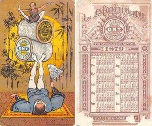 Victorian Trade Card Approx size inches = 2.5 x 4.25 Pre 1900 corner chip, cr...