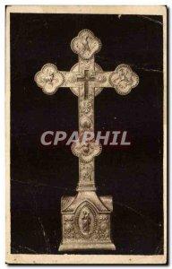 Old Postcard Saint Guilhem le Desert Relic of the Cross insignia True