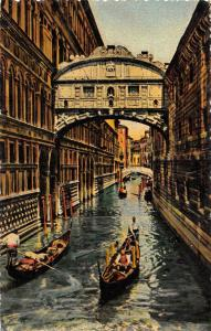 BT1826 venezia ponte dei sospiri  painting postcard  italy
