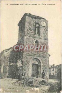 Old Postcard Beaumont near Charny (Meuse) The Church Army bombed