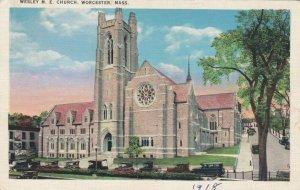 WORCESTER, Massachusetts, 1910s; Wesley M. E. Church