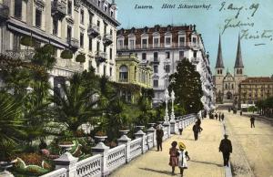 switzerland, LUZERN, Hotel Schweizerhof (1909)