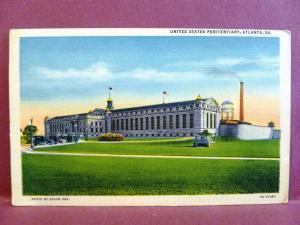 Postcard GA Atlanta US Penitentiary