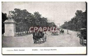 Old Postcard Collection Diary Paris Champs Elysees