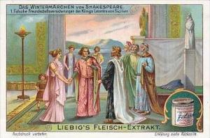 Liebig Vintage Trade Card S1101 Shakespeares Winter Tale 1914 No 1