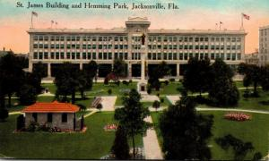 Florida Jacksonville Hemming Park and St James Building 1914