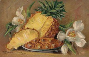 AS: A. GAMMIUS BOECKER, 1910; Still Life, Pineapple and flowers