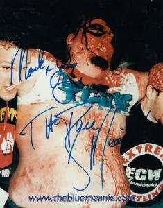 The Blue Meanie WWF American Wrestling Giant 10x8 Hand Signed Photo